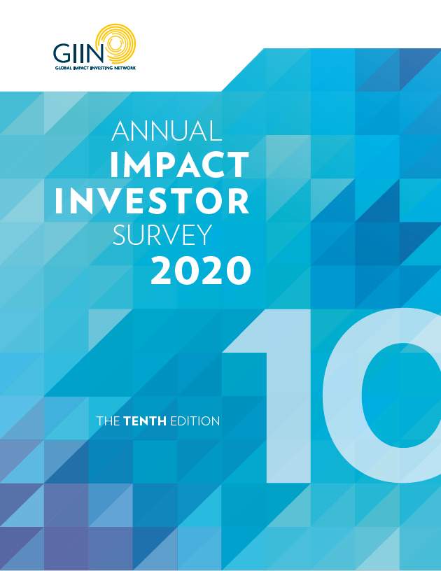 2020 Annual Impact Investor Survey Cover Image